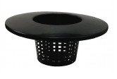 Round Mesh Bucket Lid Pot 152mm