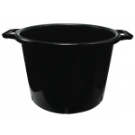 Round Black 30L Pot (With Handles)