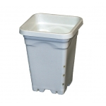 "Square White Heavy Duty Pot 5"" (1.5L)"