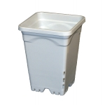 "Square White Heavy Duty Pot 7"" (4L)"