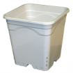 "Square White Heavy Duty Pot 12"" (18L)"