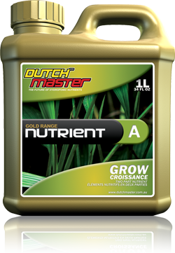 Dutch Master Gold Range NUTRIENT Grow A+B Set